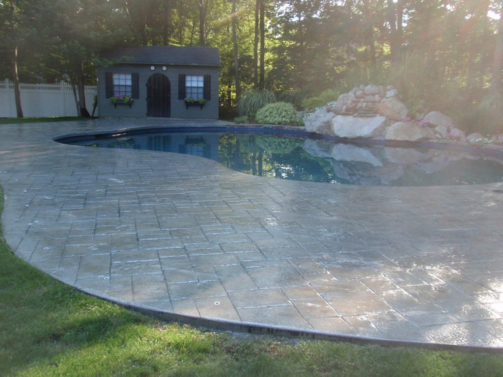 Stamped Concrete Pool Patio Deck Sealing