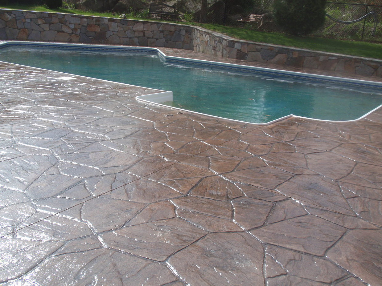 Stamped Concrete Pool Deck Sealing