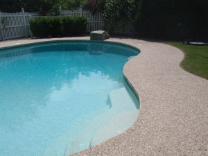 Photo of exposed concrete pool deck sealing - mansfield - ma