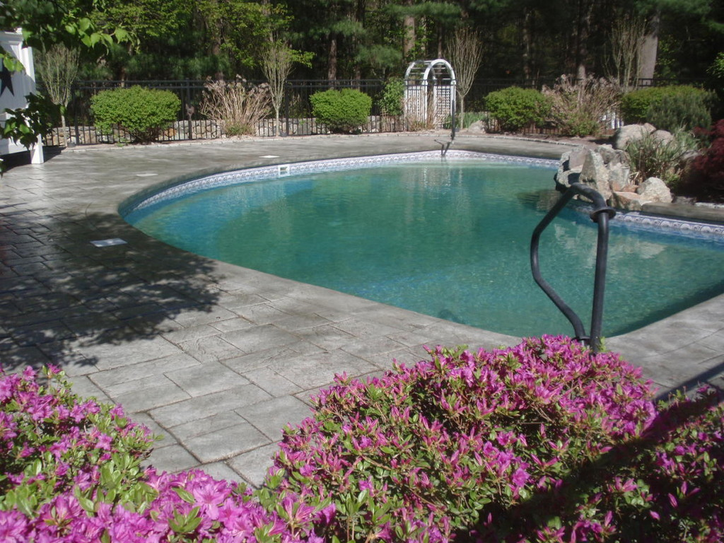 Photo of concrete pool deck sealing - norwood - ma