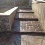 Photo of stamped concrete step - walkway
