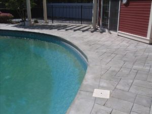 Photo of concrete pool deck sealing - hanover - ma