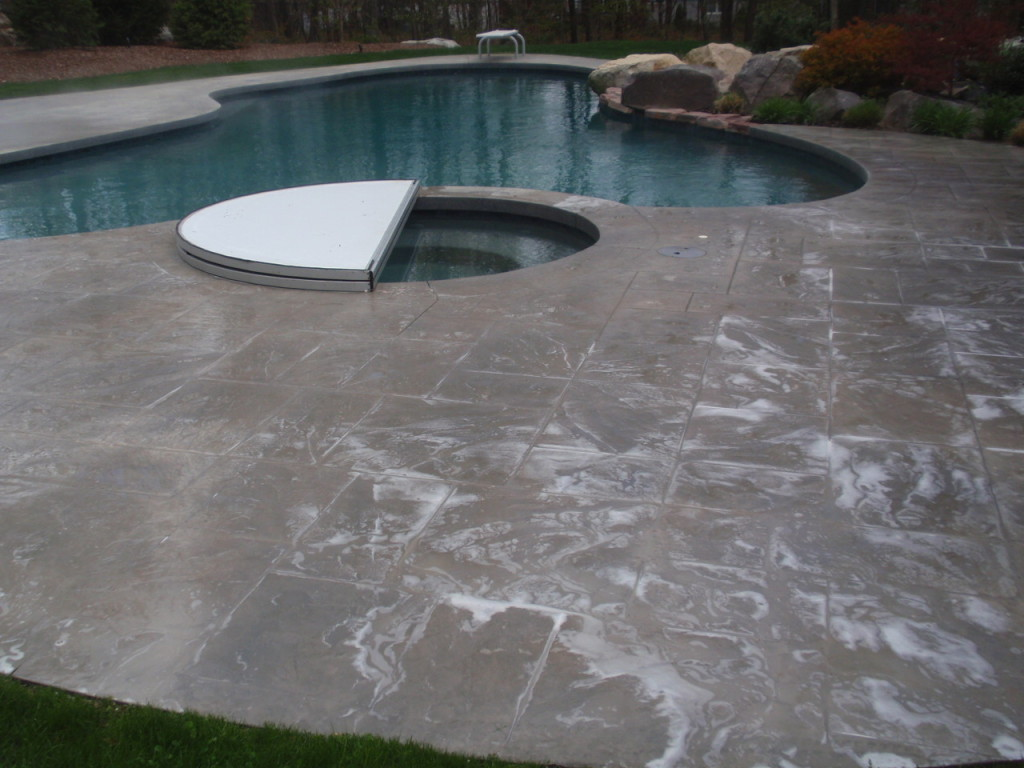 Photo of concrete pool deck sealing - plainville - ma