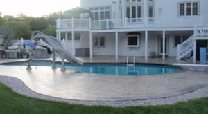 Photo of concrete pool deck sealing - dartmouth - ma