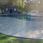 Photo of concrete pool deck sealing - canton - ma