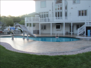 Photo of concrete pool deck sealing - swansea - ma